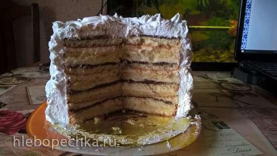 Торт бисквитный с лимонным муссом и курдом