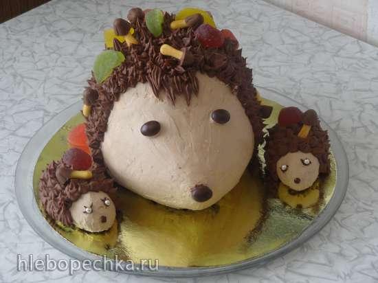 Торт Семейка ёжиков Мастер-класс