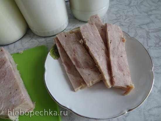 Колбаса куриная, диетическая, простой вариант приготовления в МВ-СВ в ветчиннице