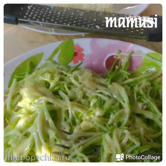 Спагетти из кабачка в микроволновке за 1-2 минуты