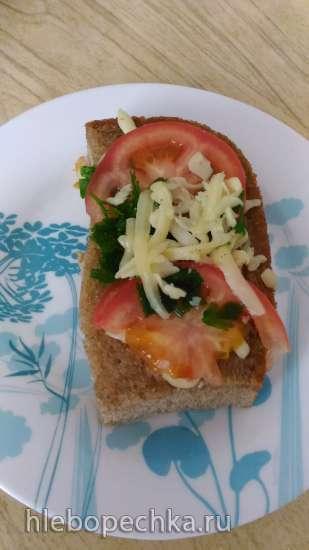 Утренняя яичница в кусочке хлеба (мультипекарня Brand 323)