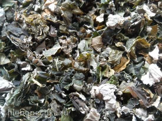 Ферментированный чай Смородиновый бенефис из листьев черной смородины и других