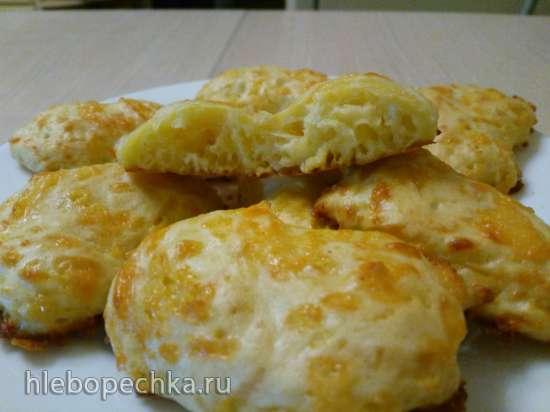 Воздушное сырное печенье к завтраку