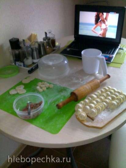 Пельменное тесто без замеса за 21 секунду! (тесто для пельменей ножами в комбайне) + видео
