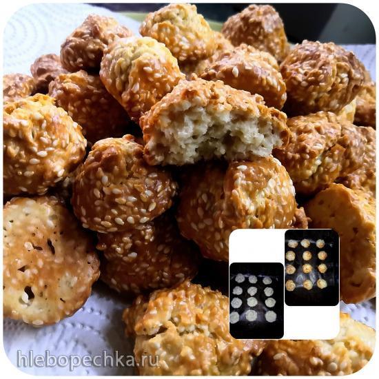 Кунжутное печенье на растительном масле