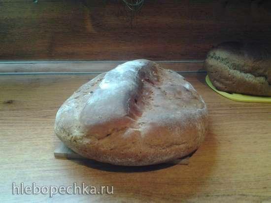 Пшенично-ржаной хлеб с майонезной заправкой (духовка)