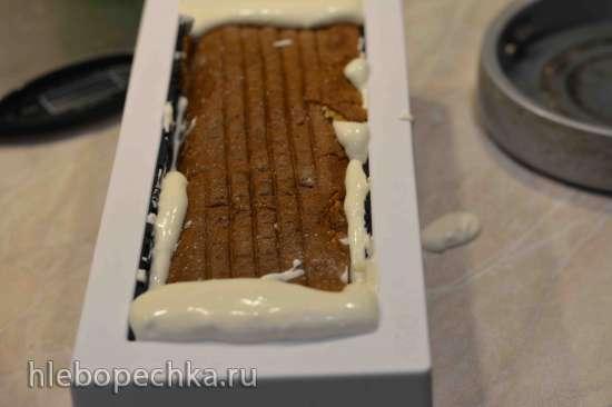Европейский медовый рулет с черносливом в шоколаде
