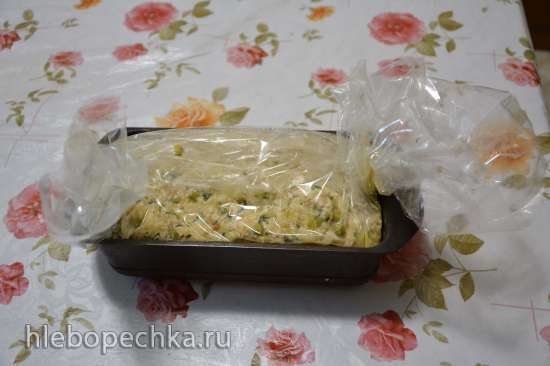 Мясной хлеб из индейки с зелеными овощами