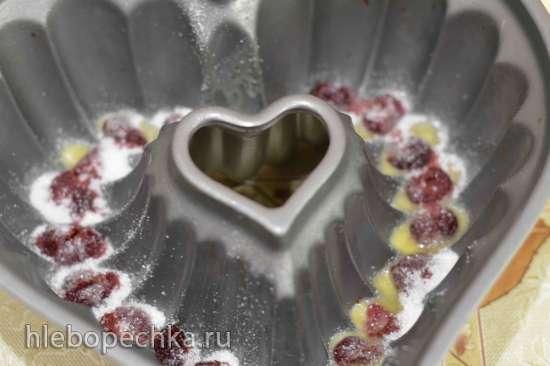 Шоколадный бандт-кейк с вишневым чизкейком