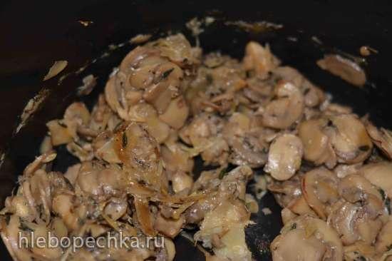 Картофельный пирог с мясом и грибами к праздничному столу