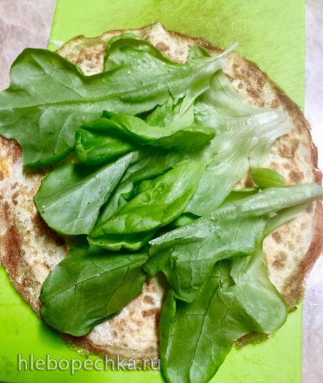 Яичные роллы с белково-овощной начинкой