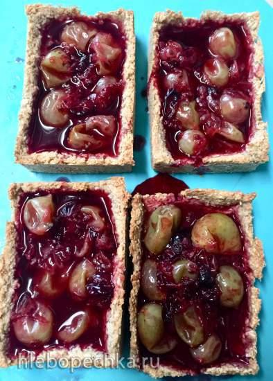 Быстрый диетический тарт с ягодами для худеющих и не только