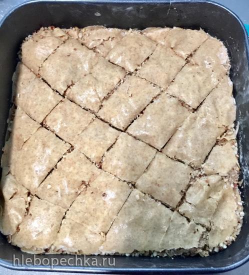 Пахлава без сахара, белой муки и масла для всех любителей сладостей