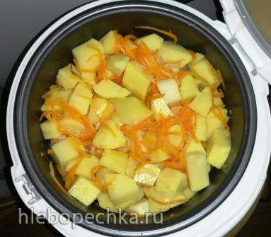 Картошка со сливками  в мультиварке Panasonic
