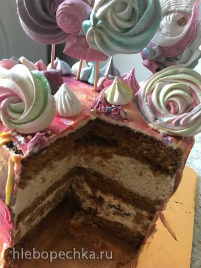 Торт «Пекановый кофе»