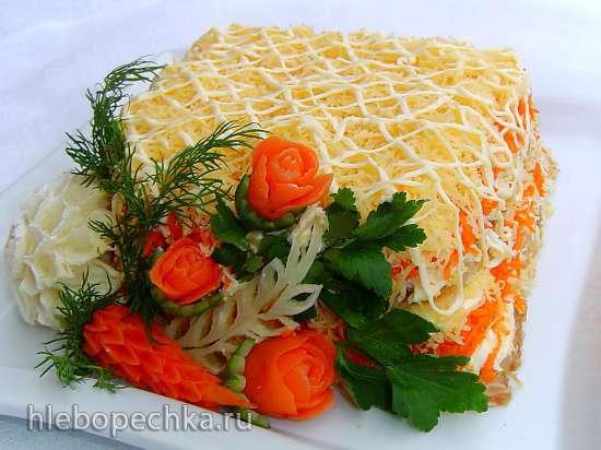 фото салат нежность