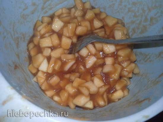 Крендель со штройзелем и начинкой из яблок, корицы и грецких орехов (комбайн Kenwood cooking chef)
