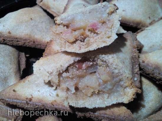 Гречневые пирожки с грушами и черносливом в приборе для мини-самсы Samboussa maker (постные)