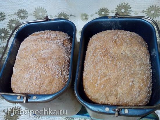 100% цельнозерновой хлеб (100% Whole Wheat Sandwich Bread) Peter Reinhart