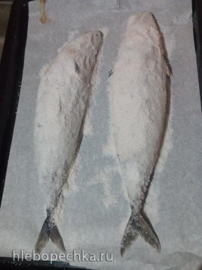 Скумбрия запеченная в соли