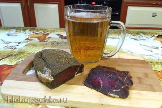 Карпаччо из буйвола (говядины). Телятина сыровяленая (брезаола)