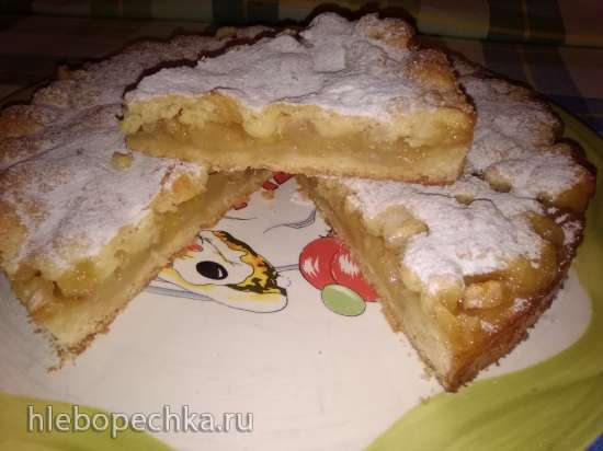 Лимонно-яблочный пирог(по рецепту Ирины Аллегровой)