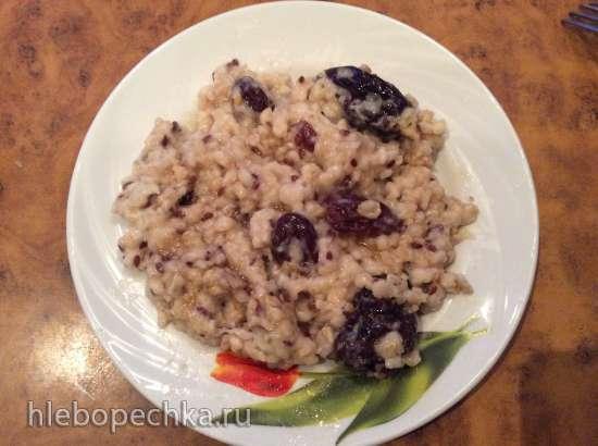 Каша геркулесовая, с плющенными зернами льна и ягодами годжи (мультиварка Redmond RMC-01)
