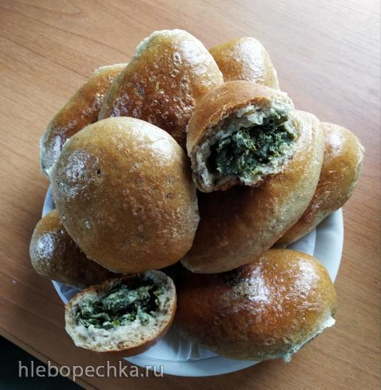 Пирожки из теста с овсяными хлопьями и ржаной мукой