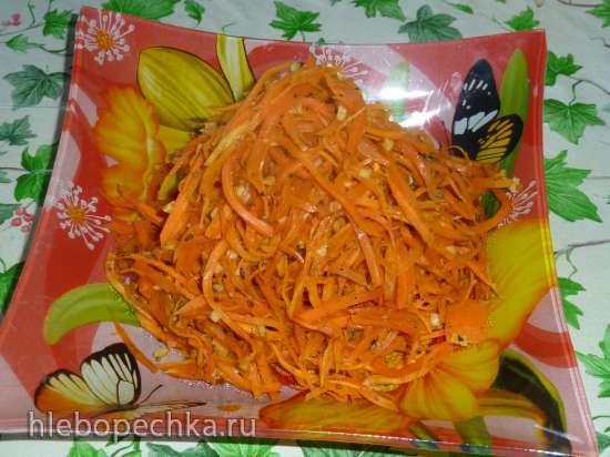 Пряные спагетти из моркови