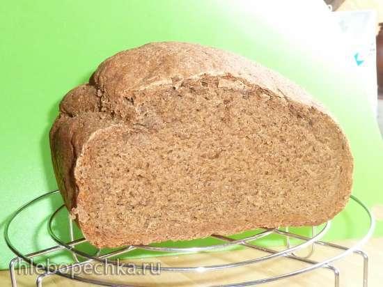 Хлеб ржаной подовый 100% на закваске «Без ничего» (духовка) (есть пересчет на дрожжи)