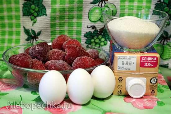 Мороженое Клубничное сливочное в Кухонной машине Kenwood 086/096
