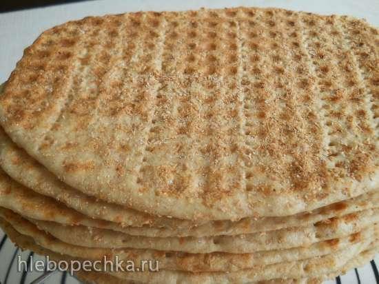 Пшенично-ржаные хлебцы или финкриспы в вафельнице для тонких вафель