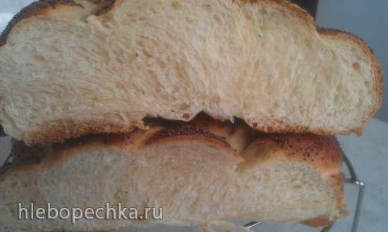 Сдобный витой хлеб