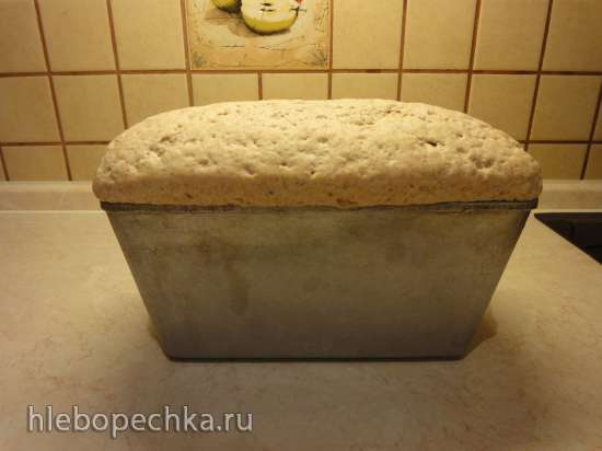 Пшеничный хлеб на закваске из пророщенных пшеничных зерен с нуля (в духовке)
