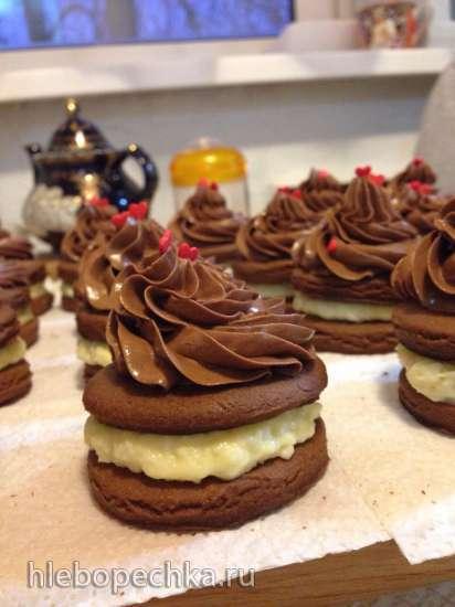 Шоколадное пирожное с кокосовым кремом