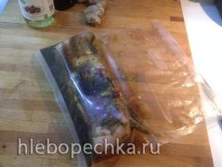 Свиная грудинка в имбирном маринаде (сувид)