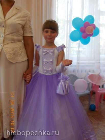 Продам платье на выпускной для девочки на рост от 116 до 130 см