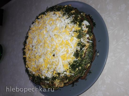 Тортик закусочный Spinaci e fegatо