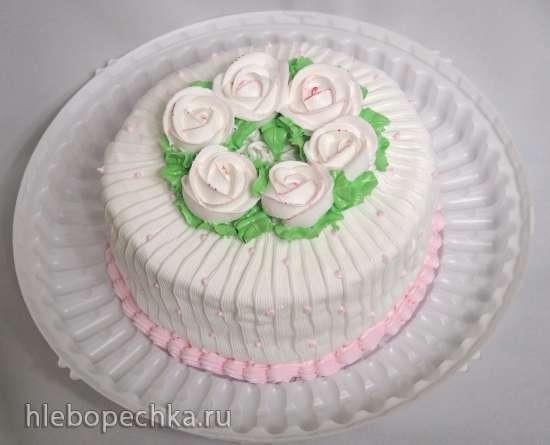 Торты, украшенные кремом (4)