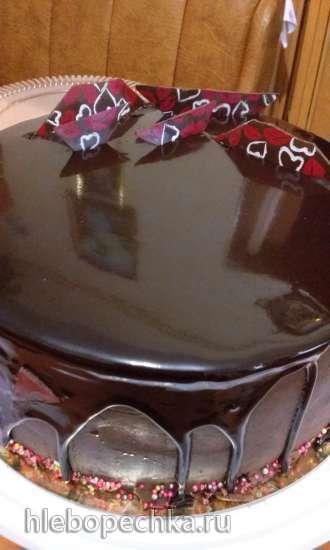 Зеркальная шоколадная глазурь