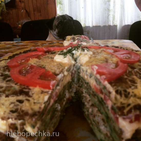 """Торт """"Дачный"""" из сезонных овощей с индейкой"""