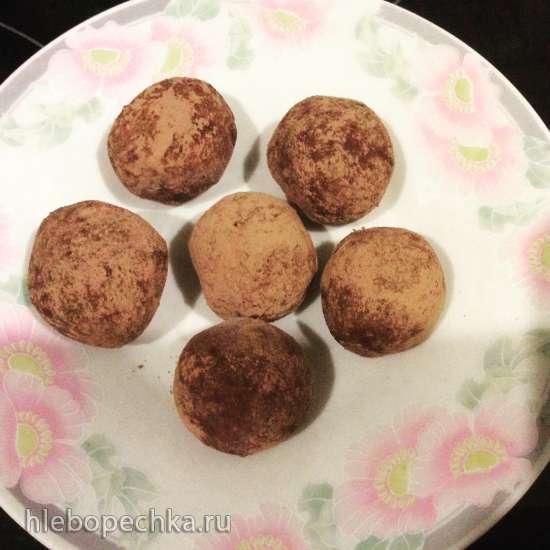 Трюфели шоколадно-банановые с печеньем