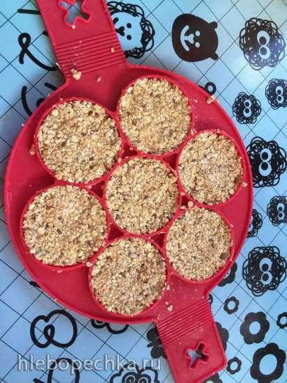 Печенье злаковое с арахисовой пастой на меду