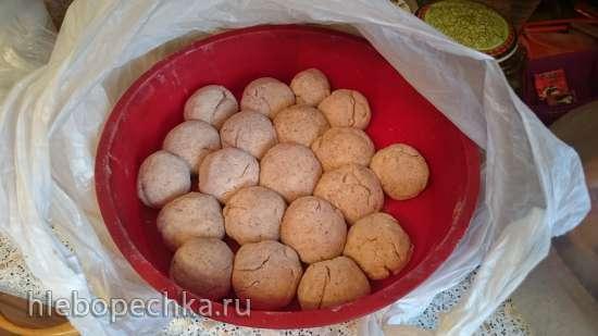 Порционный цельнозерновой хлебушек на сметане с льняной мукой