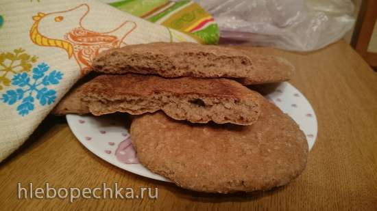 Лепёшки деревенские ржано-пшеничные