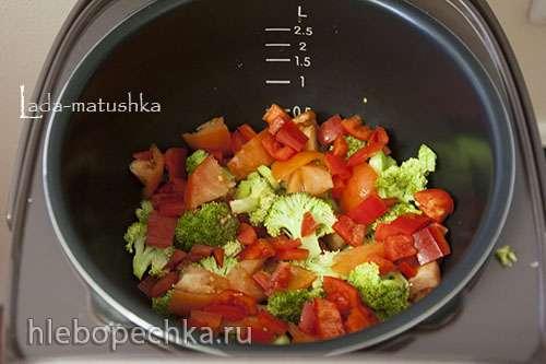 Курица на овощной подушке (для Zigmund & Shtain MC-DS42IH)