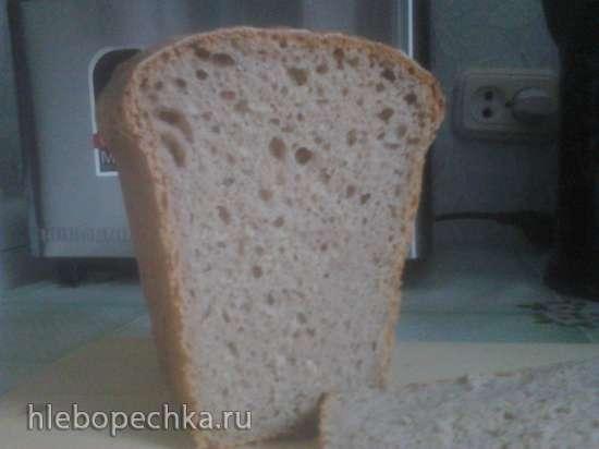 Пшенично-ржаной хлеб на закваске для формы Л-11 в хлебопечке
