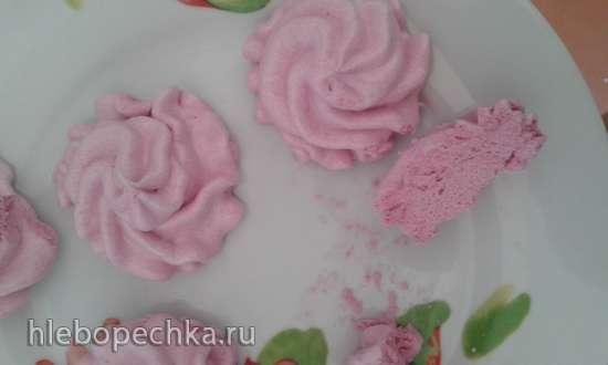 Зефир ванильный,  ягодные вариации на его основе