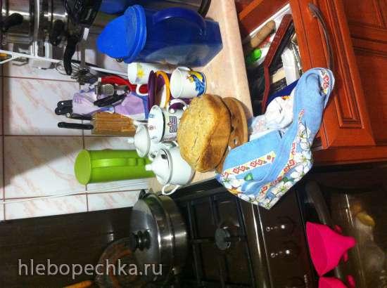 Пшеничный хлеб на закваске в хлебопечке