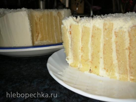 Итальянский лимонный торт с вертикальными коржами (+видео)